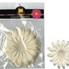 """Bazzill Paper Flowers 4"""" french vanilla"""