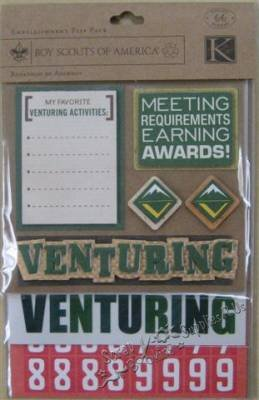 K&Company Boy Scouts of America Embellishment Flip Pack - Venturer