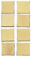 EK Success Sticko Architexture Building Embellishments - Metal Brass Square Tile