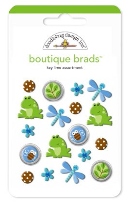 Doodlebug Design Inc. Boutique Brads key lime assortment