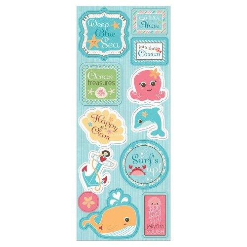 Imaginisce Splash Dance Collection - Chipboard stickers