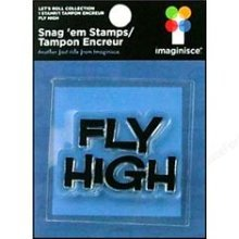 Imaginisce Clear Stamp Lets Roll Fly High