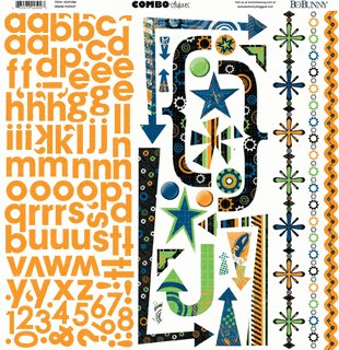 Bo Bunny Grease Monkey Combo Stickers