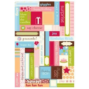 Making Memories Label Fetti Stickers - birthday