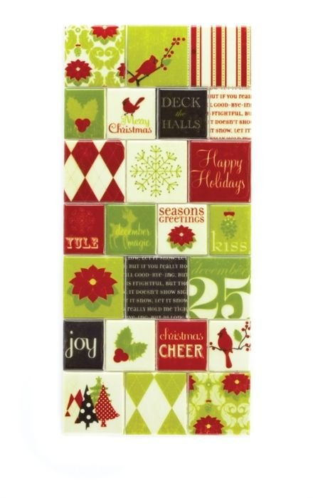 Making Memories Mistletoe Puffy Block Stickers