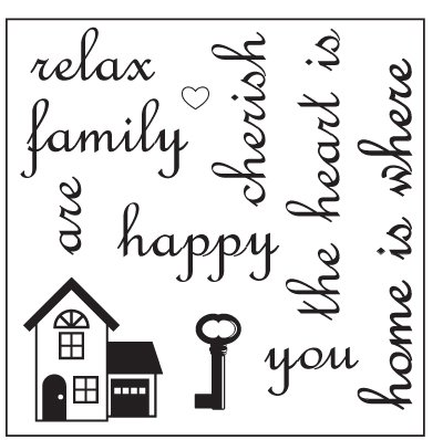 Maya Road Singleton Clear Stamps - Home is Where