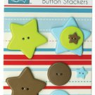 Bazzill Basics Button Stackers - Double Star