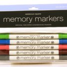 American Crafts Memory Marker 5-pack color set #4