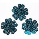 Dress it Up Teal Swirl Flower