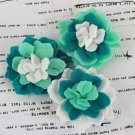 Prima Marketing Inc . - Poppies & Peonies Turquoise Felt