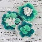 Prima Marketing Inc . - Poppies & Peonies Turquoise Felt