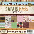 Safari Kids Paper Stack with Glitter 8x8