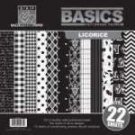 Bazzill Basics - Licorice - 12x12 multipack pad