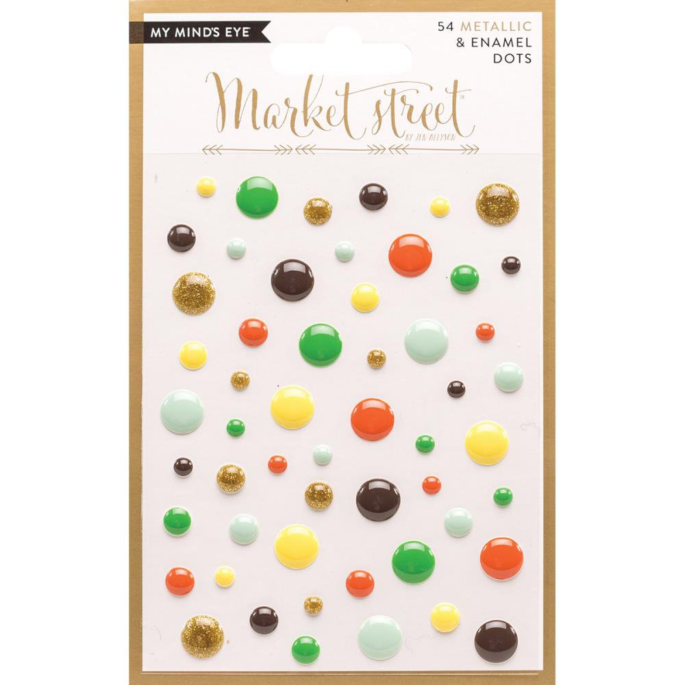 My Mind's Eye - Market Street Adhesive Metallic & Enamel Dots