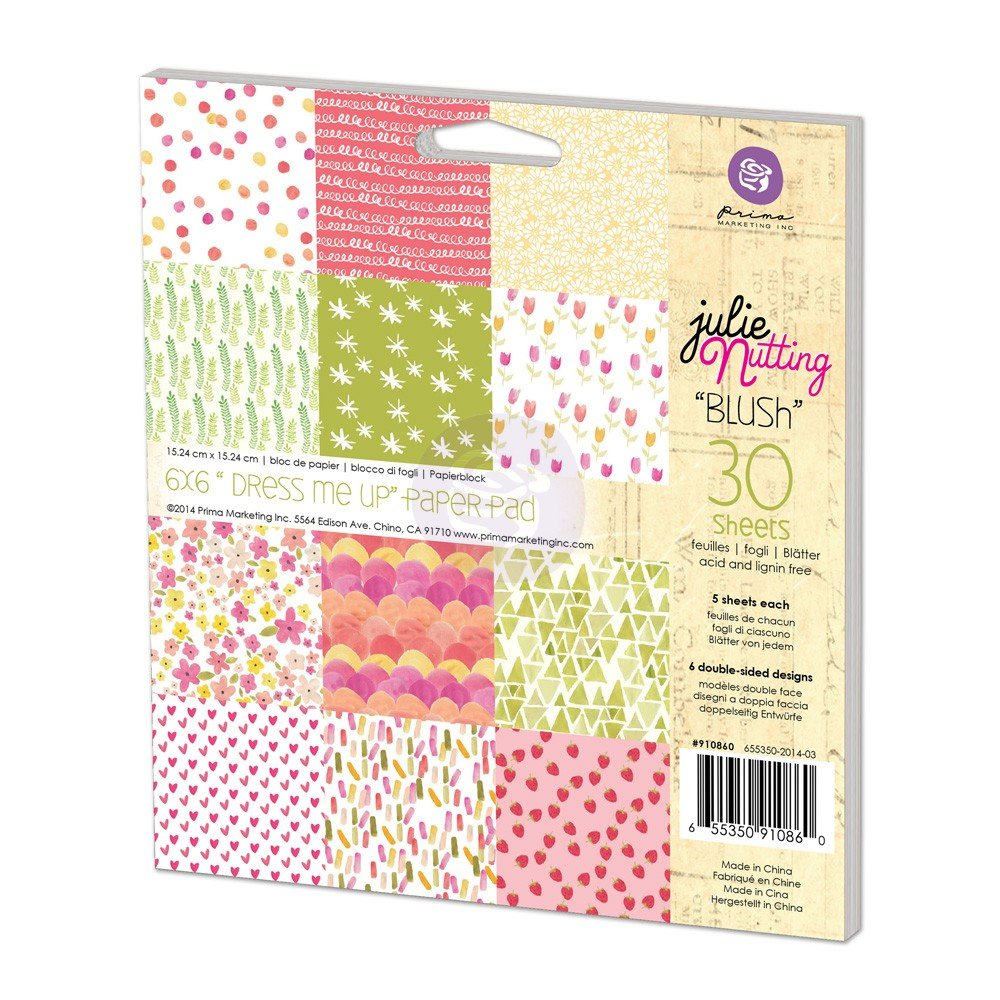Prima Marketing Inc . - Julie Nutting - Dress Me Up Blush 6x6 pad