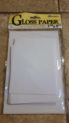 Ranger Gloss paper 5.5x8.5 Acid-Free