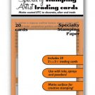 Ranger Ink - Inkssentials - Artist Trading Cards (ATC) - specialty stamping paper