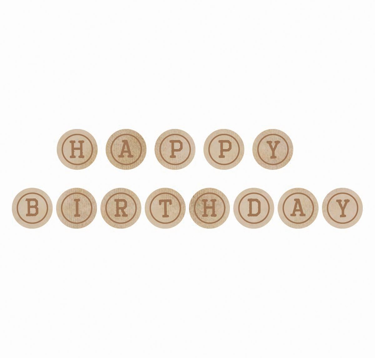 Kaisercrafts wooden Letters - Happy and Birthday