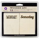 Prima Marketing Inc . wooden ATC - These Days set