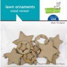 Lawn Fawn Lawn Ornaments - wood veneer stars