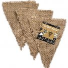 Canvas Corp - Burlap Mini Shape - Triangles