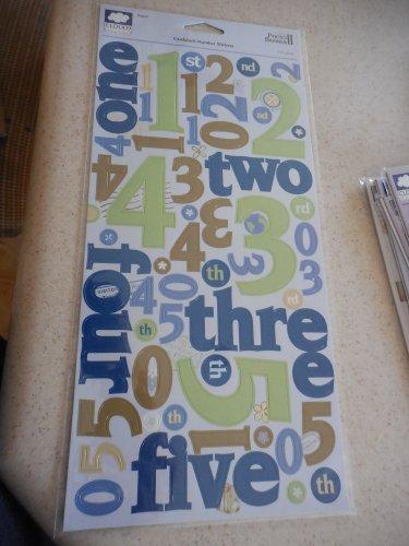 Fiskars - Cloud 9 Design Cardstock Number Stickers - Travel