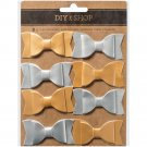 "DIY Shop 3 Pleather Bows 1""X2.25"" 8/Pkg"