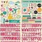 "Studio Calico Printshop 6""x12"" Alphabet & Icon Cardstock Stickers 331734"