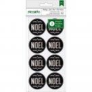 American Crafts Holiday Remarks Envelope Seals 24/Pkg - Chalkboard Noel