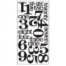 "Tim Holtz - Idea-Ology Alpha Numeric Parts .625"" To 2"" 23/Pkg"