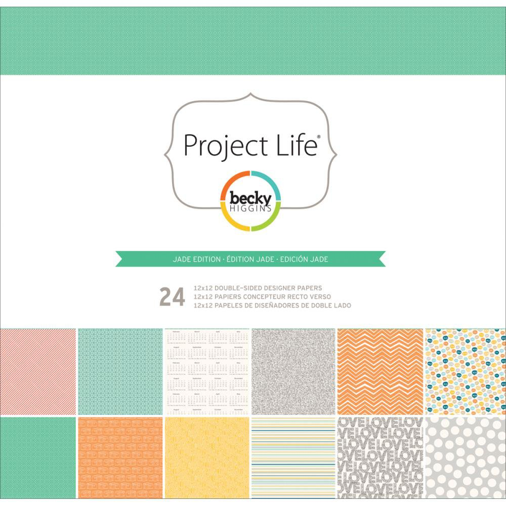 AMERICAN CRAFTS-Project Life Collection: Designer Paper Collection - Jade