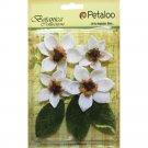 Petaloo - Botanical Collection - Vintage Velvet Magnolia White