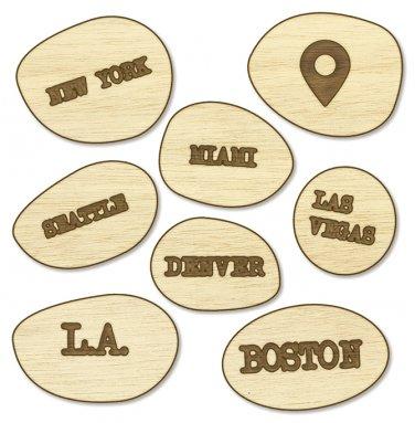 Studio Calico Wood Veneer That-a-way US Cities