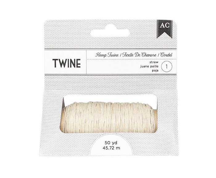 American Crafts - Hemp Twine - Straw