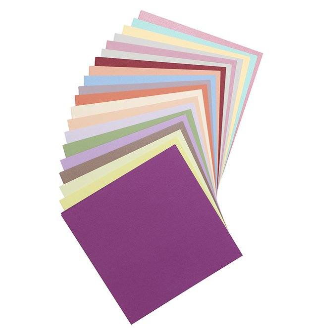 Bazzill Basics - 100 sheet assorted colors 12x12