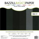 Bazzill Basics - 12x12 Specialty Paper - Black