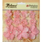 Petaloo Textured Elements - Burlap Pink