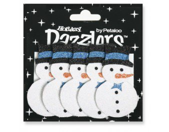 Petaloo Holiday Dazzlers - Snowman blue/white