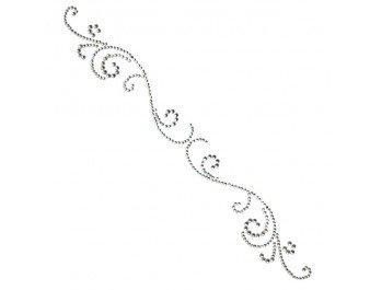 Want2Scrap Say it with Pearls swirls finesse rhinestone- silver
