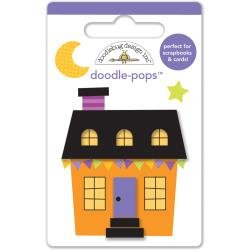 Doodlebug Design - October 31st Collection Doodle-Pops - halloween house