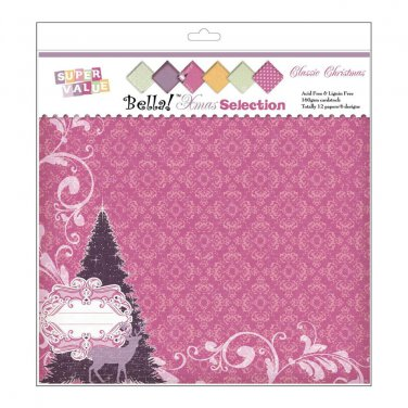 RUBY ROCK IT- Pink Fusion Double-Sided Cardstock - Doily