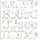 American Crafts - DIY Shop 2 Alpha Stickers - Typewriter/white