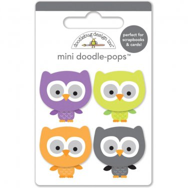 Doodlebug Design - October 31st Collection Doodle-Pops - lil' owls