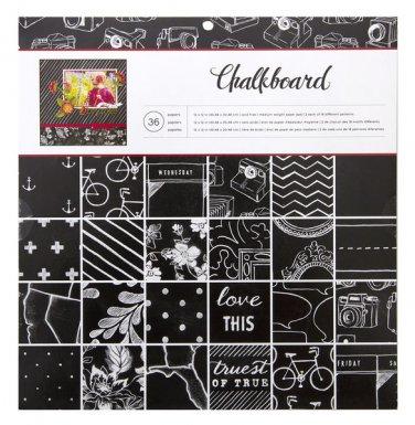 American Crafts 12x12 Chalkboard Paper pad