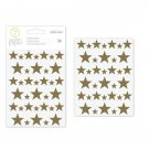 American Crafts 332636 Stars Chipboard Star Stickers