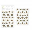 American Crafts 332636 Stars Chipboard Star Stickers
