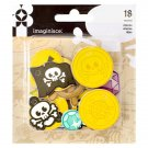 Imaginisce PAR-R-RTY ME HEARTY DIE-CUT FOAM CHARM SHAPES 18/PKG