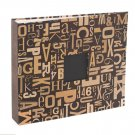 American Crafts Woodtype Patterned Cloth D-Ring Album, 12 by 12-Inch, Cut and Paste