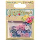 Dovecraft Forget-Me-Not Plastic Buttons 50/Pkg