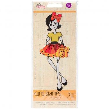Prima Marketing Inc . - Julie Nutting- Doll Stamp Skelly